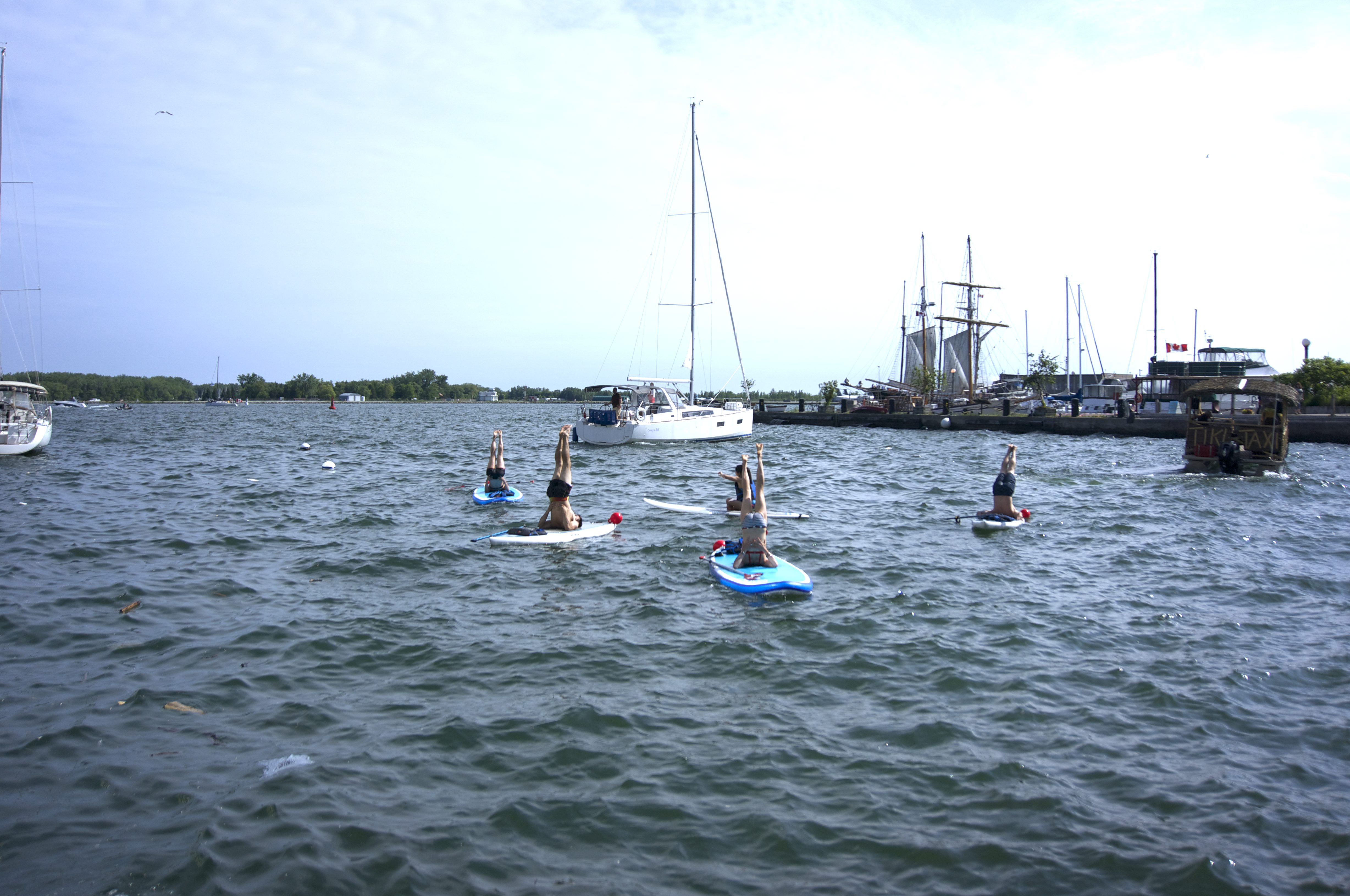 SUP Yoga secondary contact recreational water activity