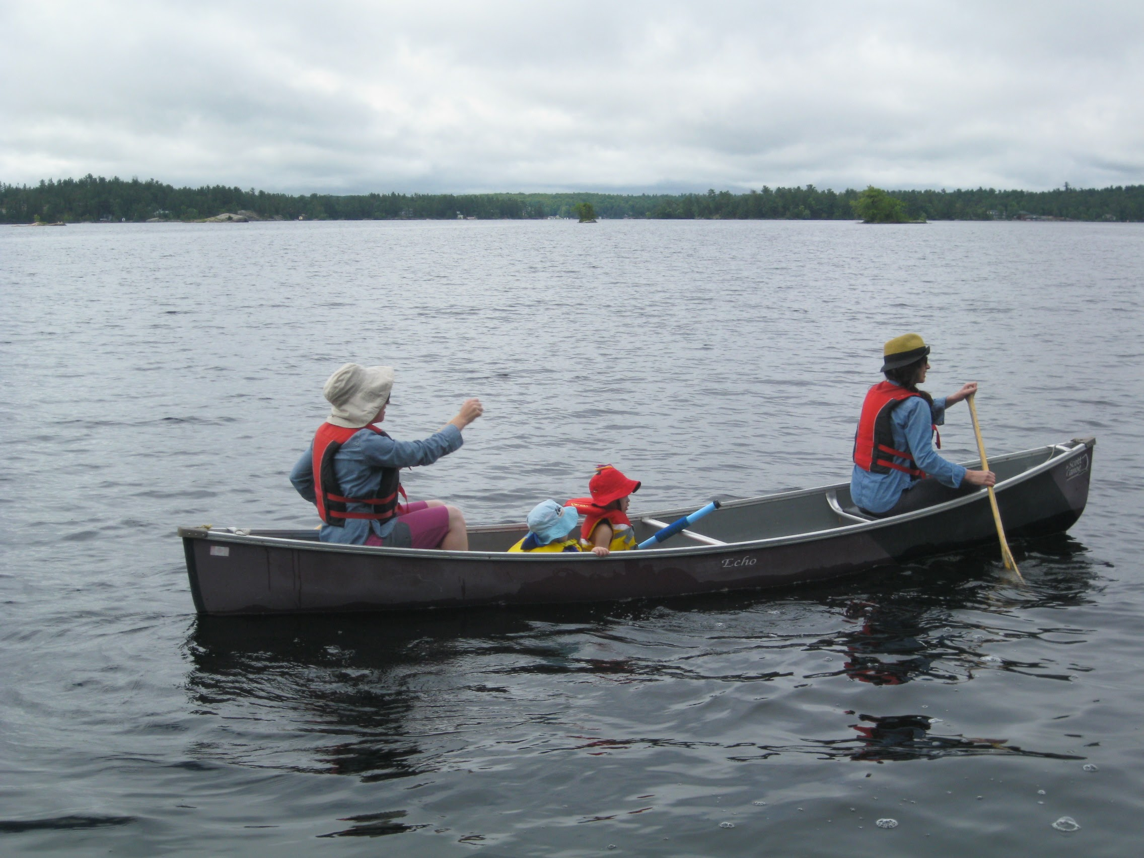Learning to swim in a canoe